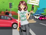 Go Green Girl Dress Up