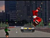 Skateboarding Santa