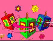 Hanukkah Dreidels Coloring