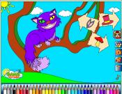 Alice in Wonderland: The Cheshire Cat Coloring