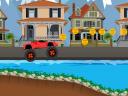 Monster Wheel Racing Car