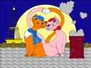 Feline Romance Coloring